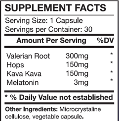 Sleep Formula, 30 Capsules, Valerian Root, Hops, Kava Kava, and Melatonin, Key Part of a Healthy Lifestyle, Benefit your Heart, Weight, and Mind, Supports Healthy Brain Function