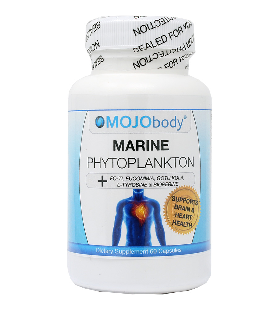 Marine Phytoplankton, Supports Brain & Heart Health, 60 capsules Powerful Super Foods, Nutrient Dense