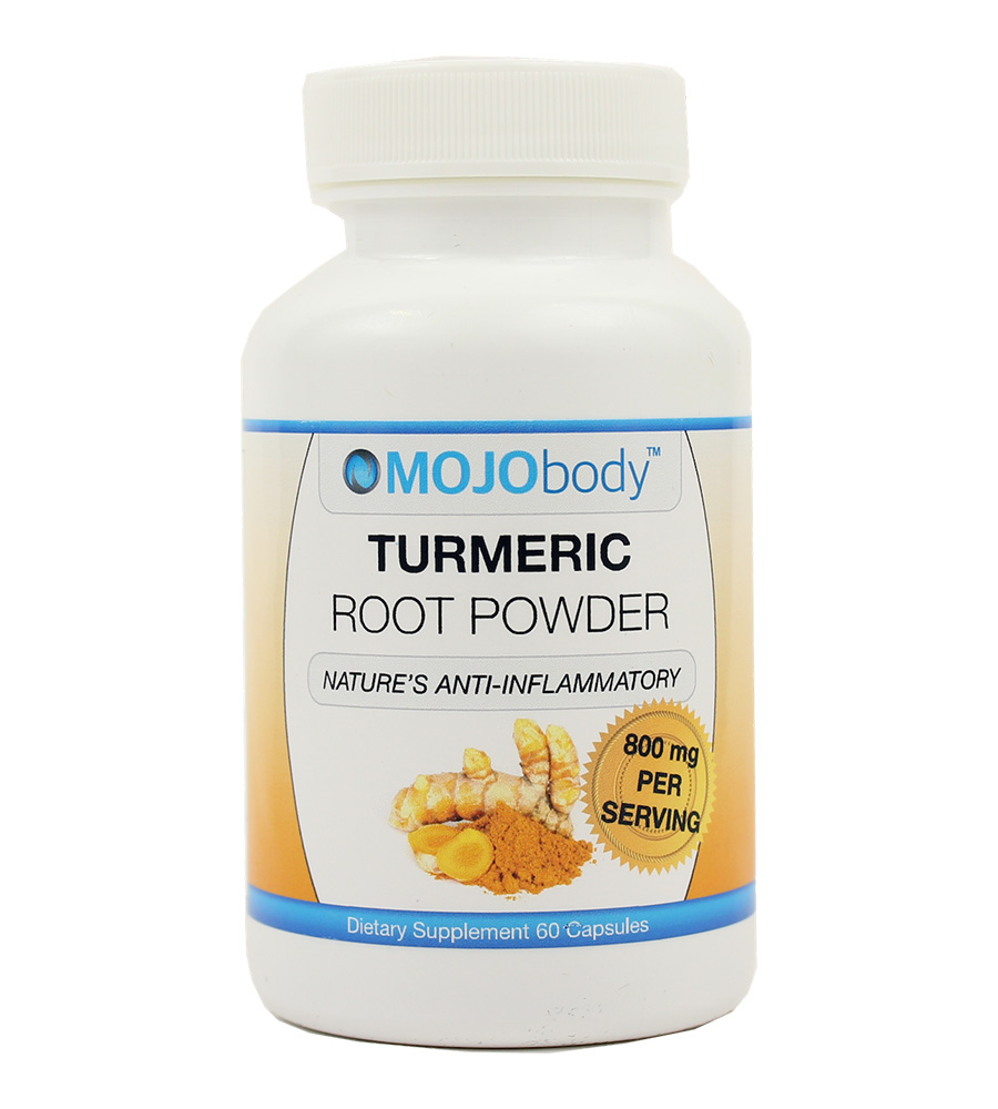 Turmeric Root Powder, Natural Anti- Inflammatory, 800 mg per serving, 60 capsules, Curcumin is a Natural Anti-Inflammatory Compound