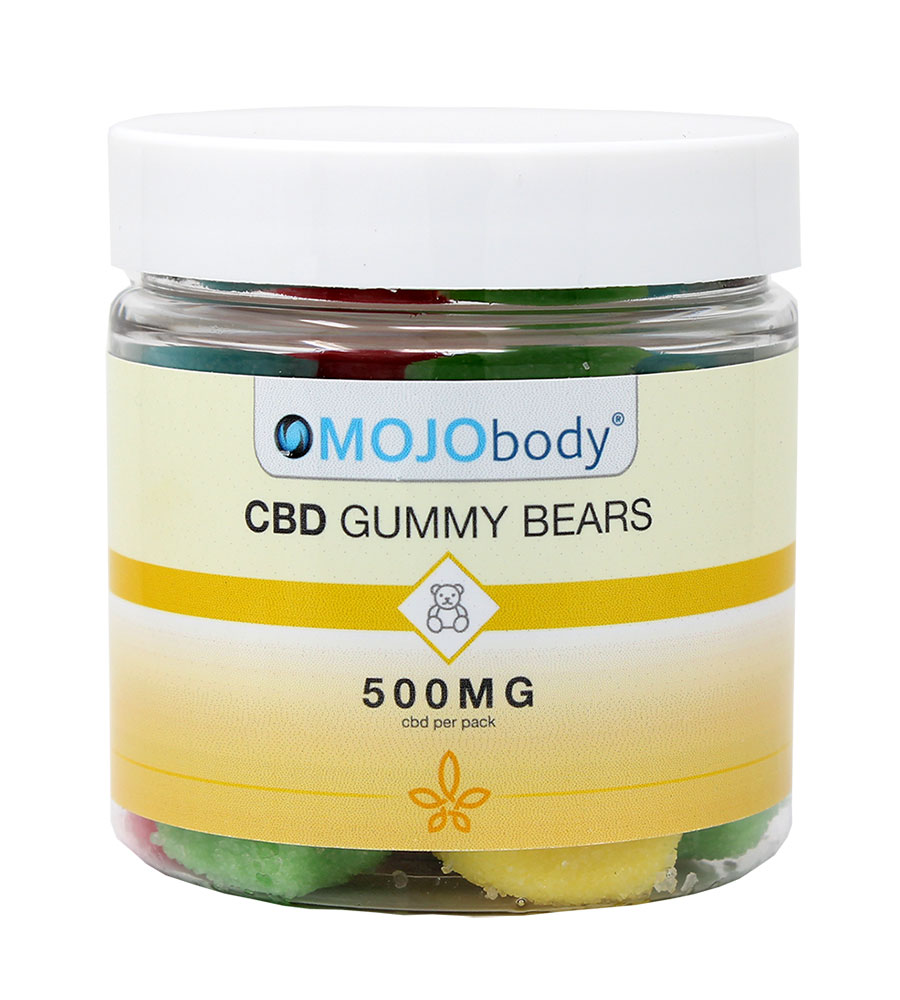 CBD Gummy Bears 500mg 25ct. Canister, Each batch is third-party tested to ensure 100% THC free non-psychoactive CBD in each Gummy Bear