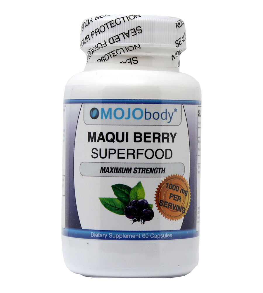Maqui Berry Extract, 1000mg 60 Capsules, High Quality Superfood, Rich in Antioxidants, Supports Eye Health and Dry Eyes, Anti-Aging