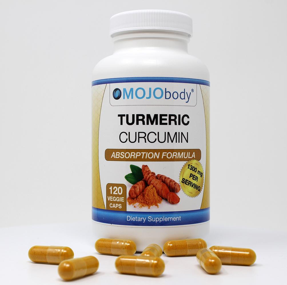 Turmeric Curcumin C3 Complex High Absorption Formula with BioPerine (Black Pepper), Natural Anti-Inflammatory, 1300mg Per Serving, 120 Veggie Capsules