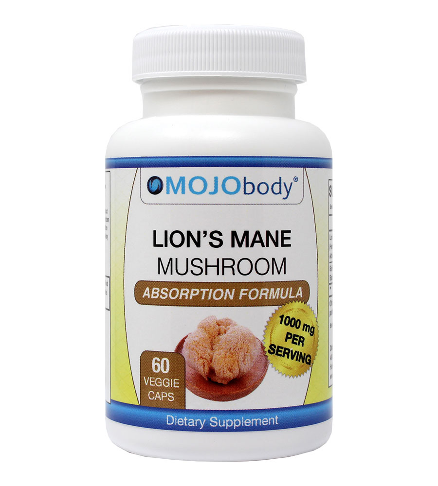 Lion's Mane High Absorption Formula with BioPerine (Black Pepper), Promotes Mental Clarity, Focus and Memory, Nootropic Brain Supplement and Immune Support, 1000mg Per Serving, 60 Veggie Capsules